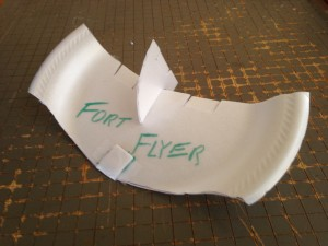 Image of a homemade glider scouts can make in the Aviation program